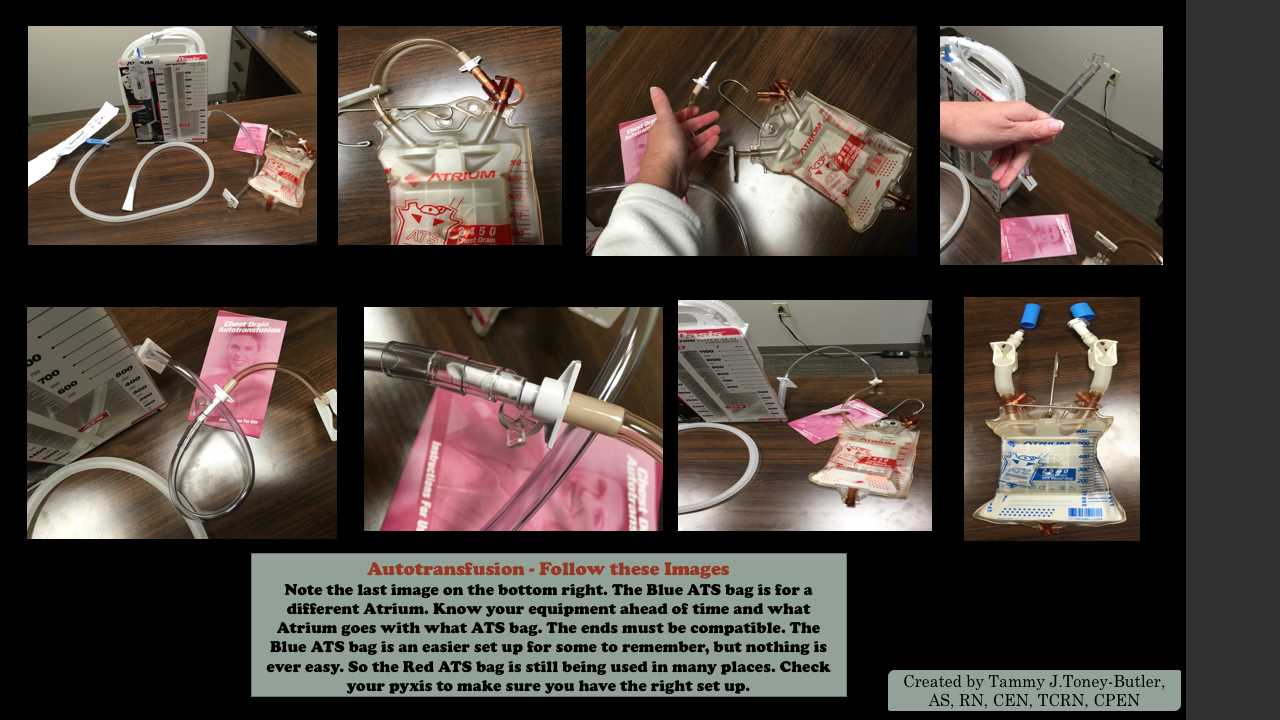Autotransfusion set up/ATS bags/Atrium